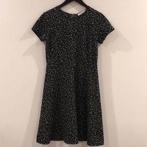 Loft Leopard A Line Dress